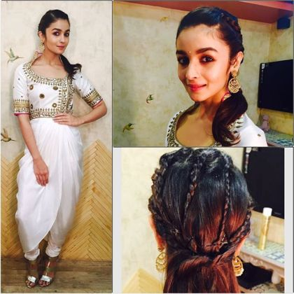 Draped kurta jacket on celebrity - Tisha Saksena - Alia Bhatt - What to wear to an Indian wedding