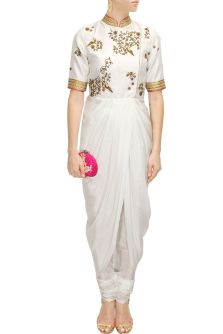 Draped kurta jacket - Tisha Saksena - What to wear to an Indian wedding