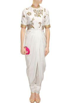 Draped kurta jacket - Tisha Saksena - What to wear to an Indian wedding