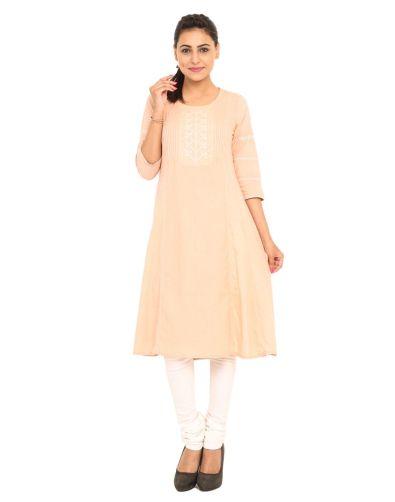 Ekmatra - Peach kurta with white churidaar - Meherchand market wedding shopping guide