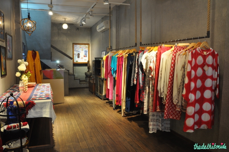 In Joy - Rack of suits and tunics - Meherchand market wedding shopping guide
