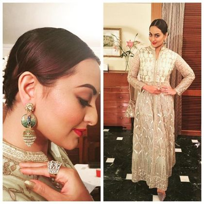 Jacket sharara - Anita Dongre - Sonakshi Sinha - What to wear to an Indian wedding