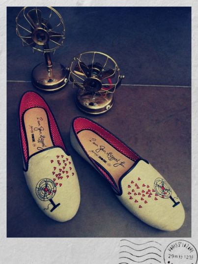 January Rose - footwear - printed pink moccasins - Meherchand market wedding shopping guide