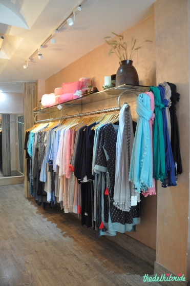 Manan- Rack of clothes in the store - Meherchand market wedding shopping guide