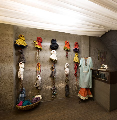 Shades of India - Colourful dupattas and stoles on display - Meherchand market wedding shopping guide