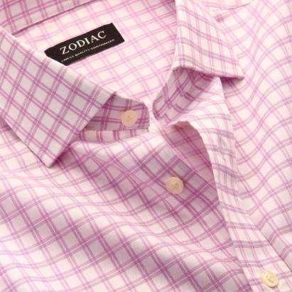 Zodiac - Pink checkered shirt - Meherchand market wedding shopping guide