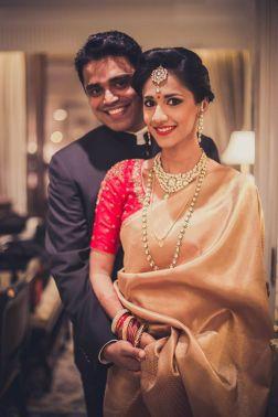 Reception - bride & groom portrait 1 - Anasuya Wedding Wardrobe