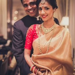 Reception - bride & groom portrait 1 - Anasuya Wedding Wardrobe