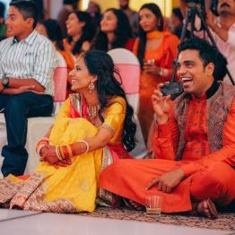Sangeet - DIY Lehenga in yellow 1 - Anasuya Wedding Wardrobe