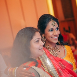Sangeet - DIY Lehenga in yellow 2 - Anasuya Wedding Wardrobe