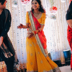 Sangeet - DIY Lehenga in yellow 3 - Anasuya Wedding Wardrobe