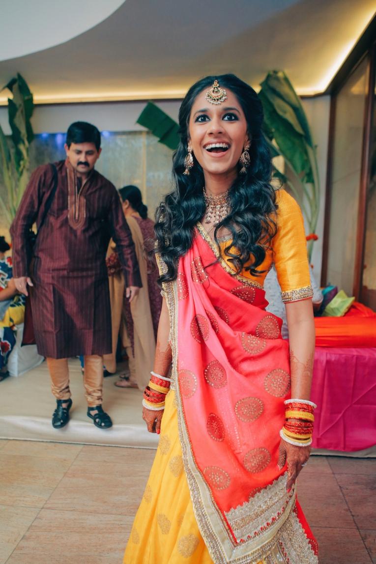 Sangeet - DIY Lehenga in yellow 5 - Anasuya Wedding Wardrobe