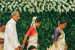 Wedding - Bride with her parents - Anasuya Wedding Wardrobe