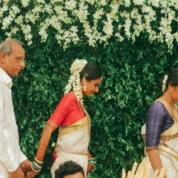 Wedding - Bride with her parents - Anasuya Wedding Wardrobe