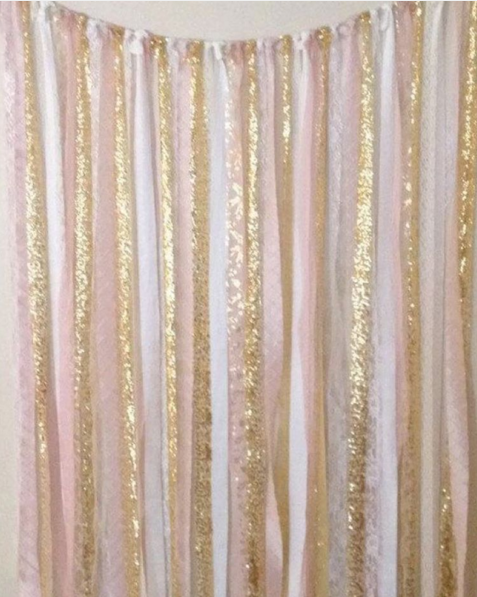 Wedding decor - backdrop idea - simple DIY streamers by The Wedding Peeps