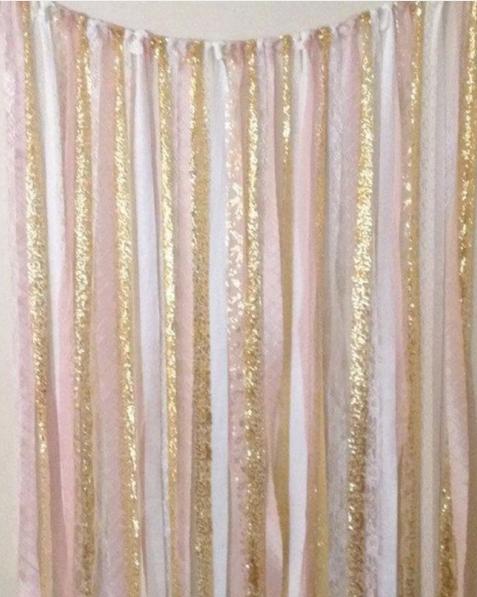 Wedding decor - backdrop idea - simple DIY streamers by The Wedding Peeps