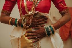 Wedding - Malyali bride getting ready shot- Anasuya Wedding Wardrobe