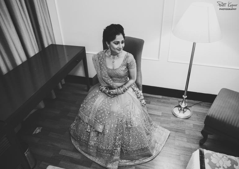 Wedding Wardrobe Apoorva - pink & gold Frontier Raas bride in Sabya style lehenga
