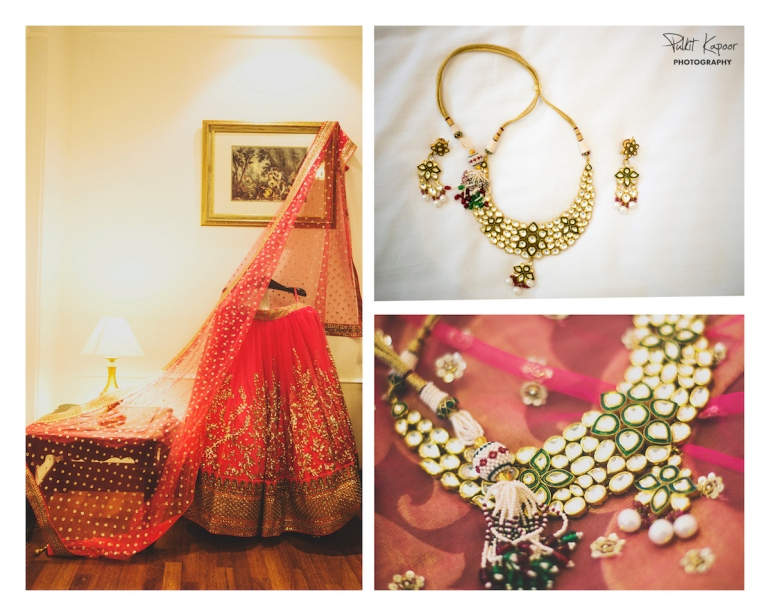 Wedding Wardrobe Apoorva - pink & gold Frontier Raas bride with kundan jewellery