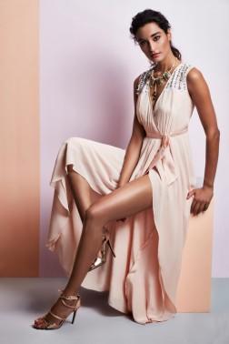 Soft peach gown