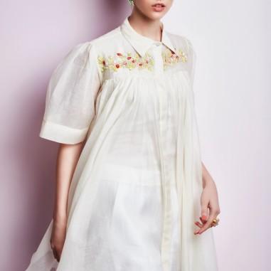 White shirt style kurta