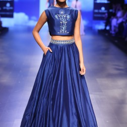 15 Blue floral embroidered crop top with skirt | Anita Dongre Love Notes | Lakme Fashion Week 2016
