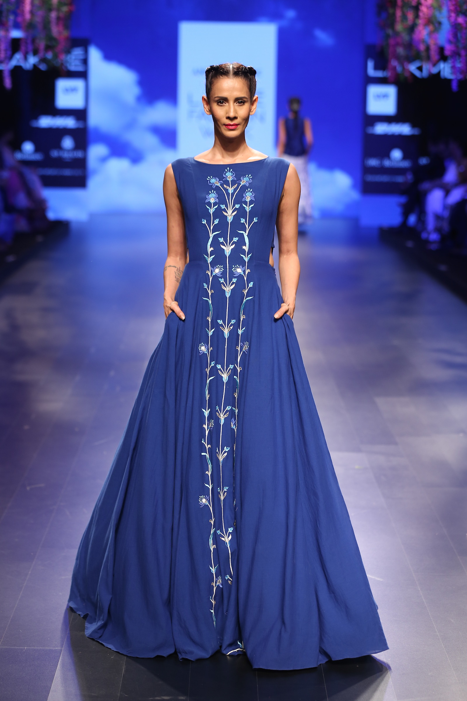 17 Bougainvillea embroidered blue gown   Anita Dongre Love Notes ...