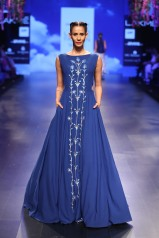 17 Bougainvillea embroidered blue gown   Anita Dongre Love Notes   Lakme Fashion Week 2016