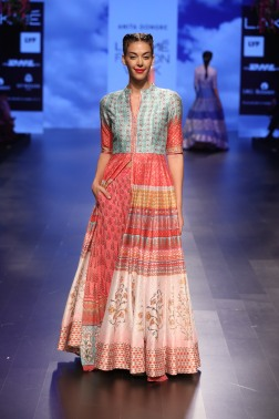 22 Multicoloured jacket anarkali with print lehenga | Anita Dongre Love Notes | Lakme Fashion Week 2016