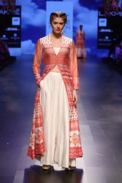 23 Red and white printed jacket | Anita Dongre Love Notes | Lakme Fashion Week 2016