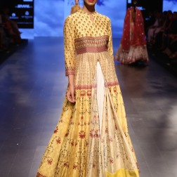 26 Yellow printed jacket anarkali | Anita Dongre Love Notes | Lakme Fashion Week 2016