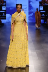 28 Candy yellow anarkali with gota patti embroidery   Anita Dongre Love Notes   Lakme Fashion Week 2016