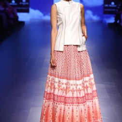 3 Red and white print lehenga | Anita Dongre Love Notes | Lakme Fashion Week 2016