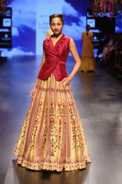 32 Yellow and red bougainvillea print lehenga | Anita Dongre Love Notes | Lakme Fashion Week 2016