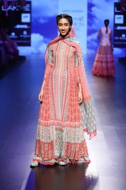 4 Blue & red print suit | Anita Dongre Love Notes | Lakme Fashion Week 2016