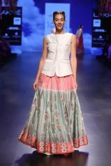 6 Blue & red print lehenga   Anita Dongre Love Notes   Lakme Fashion Week 2016