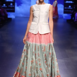 6 Blue & red print lehenga | Anita Dongre Love Notes | Lakme Fashion Week 2016