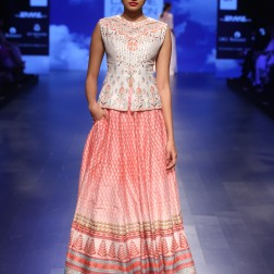7 Ivory & red print lehenga with gota patti jacket blouse | Anita Dongre Love Notes | Lakme Fashion Week 2016