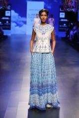 8 Blue print lehenga with gota patti blouse   Anita Dongre Love Notes   Lakme Fashion Week 2016