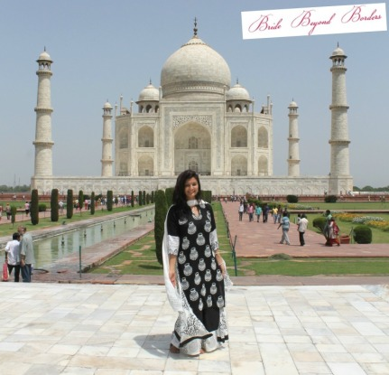 At the Taj Mahal - Bride Beyond Borders