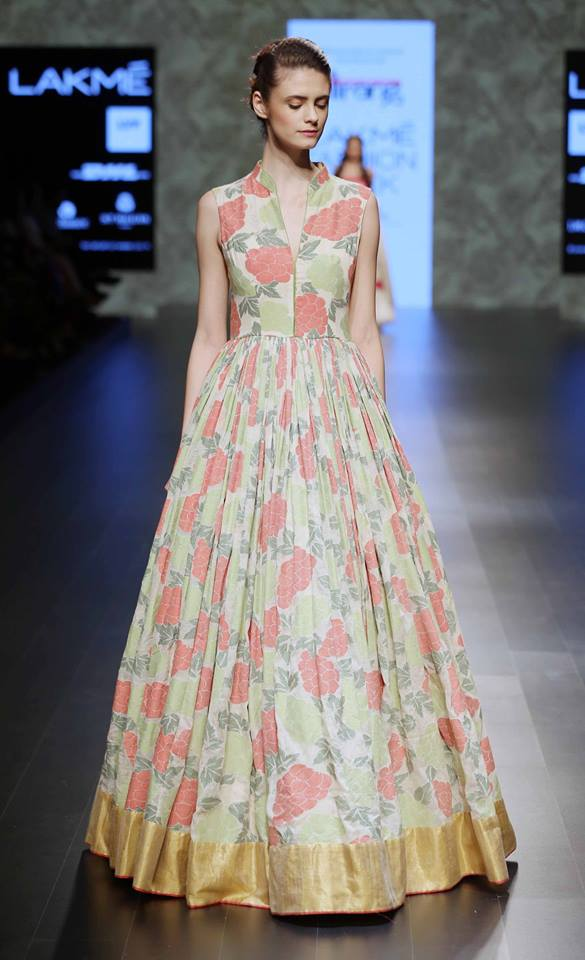 Gown - Gaurang Shah - Floral voluminous gown - Lakme Fashion Week Summer-Resort 2016