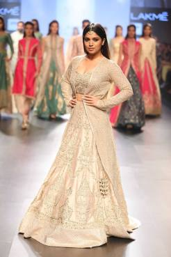Lehenga - SVA Couture - Beige bridal lehenga with jacket - full - Lakme Fashion Week Summer-Resort 2016.jpg