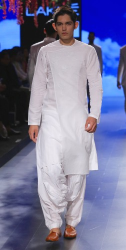 Menswear Achkan style kurta with salwar | Anita Dongre Love Notes | Lakme Fashion Week 2016