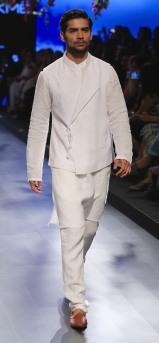 Menswear White achkan style jacket with kurta and pants   Anita Dongre Love Notes   Lakme Fashion Week 2016