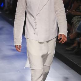 Menswear White achkan style jacket with kurta and pants | Anita Dongre Love Notes | Lakme Fashion Week 2016