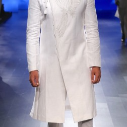 Menswear White achkan style kurta with churidar | Anita Dongre Love Notes | Lakme Fashion Week 2016