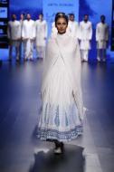 Top Pick White anarkali with bougainvillea print   Anita Dongre Love Notes   Lakme Fashion Week 2016