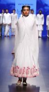 Top Pick White anarkali with pink floral print border   Anita Dongre Love Notes   Lakme Fashion Week 2016
