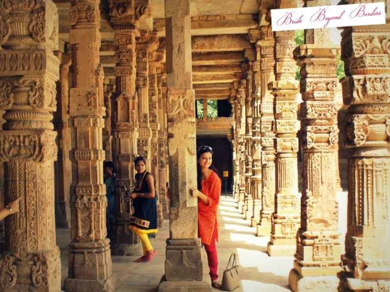 Visiting Qutub Minar - Bride Beyond Borders