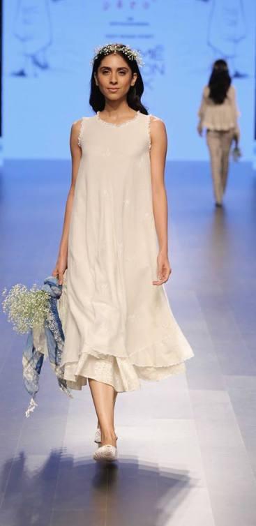 Western wear - Dress - Pero - White layered summer dress - Lakme Fashion Week Summer-Resort 2016
